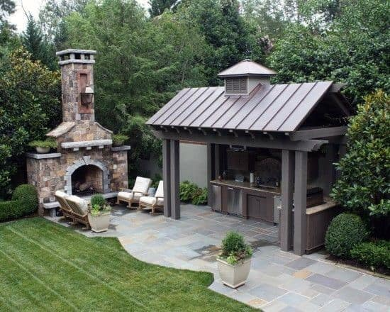 Pavilion Cool Backyard Ideas - Top 60 Best Cool Backyard Ideas - Outdoor Retreat Designs