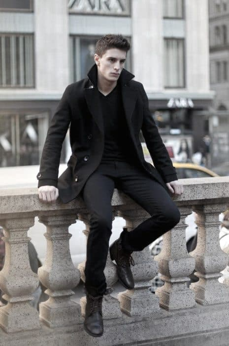 Peacoat All Black Outfits Mens Fall Fashion Style Ideas
