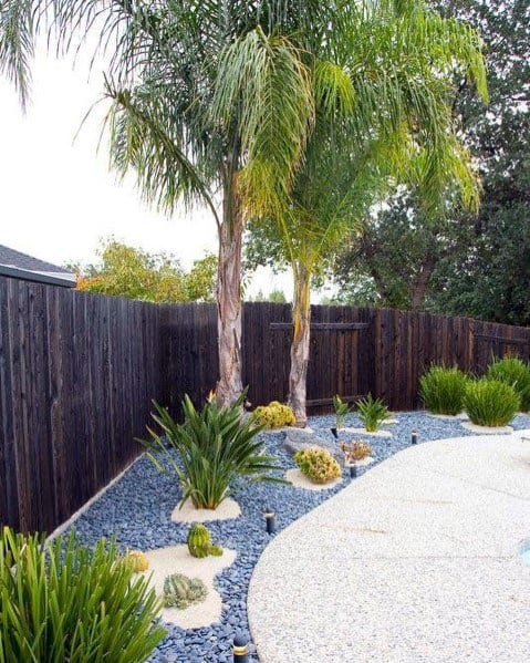 Pebble Stone Pool Landscaping Backyard Design