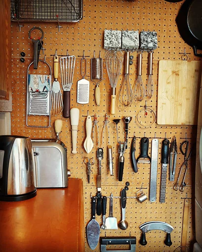 pegboard kitchen organization ideas alexdelduca