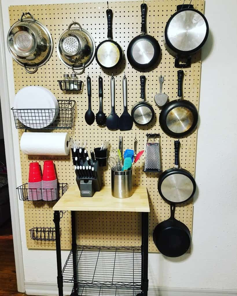 pegboard kitchen organization ideas brieny83