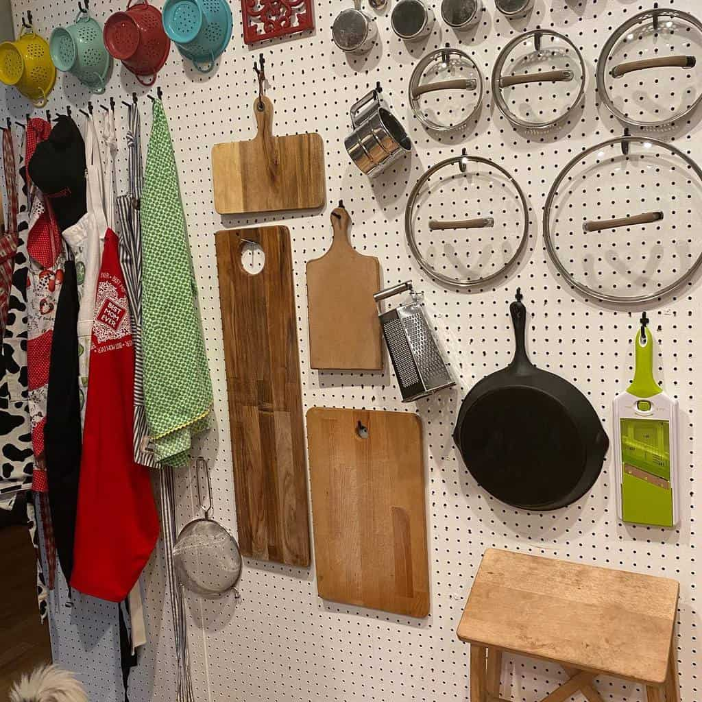 pegboard kitchen organization ideas carmenmarielaird