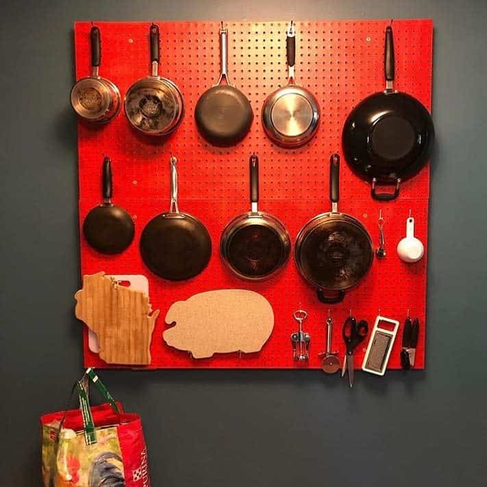 pegboard kitchen organization ideas lisapegboards