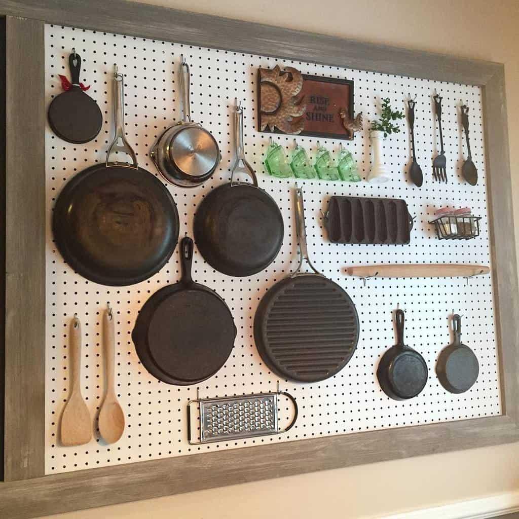 pegboard kitchen organization ideas stewart.style