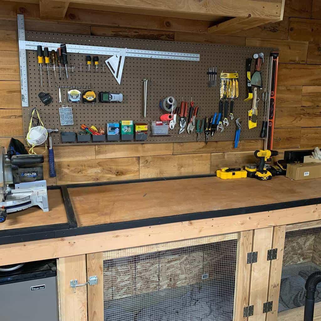 pegboard work bench ideas brews_n_music
