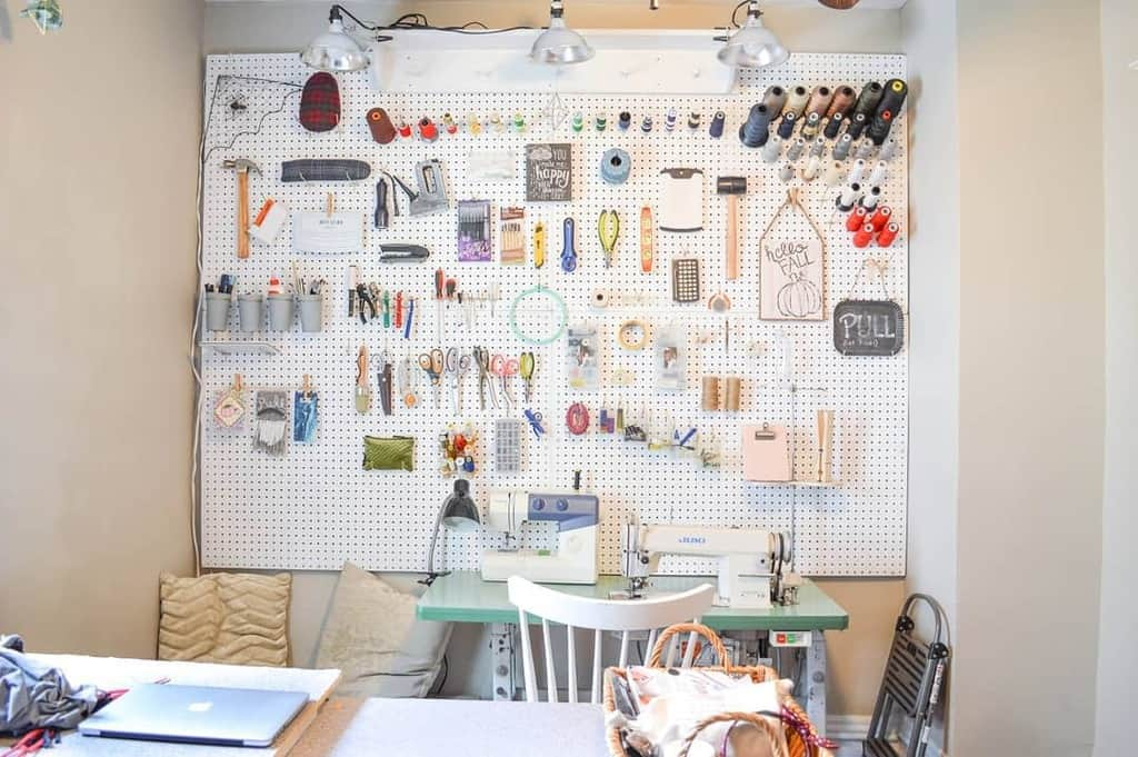 pegboard work bench ideas goheendesigns