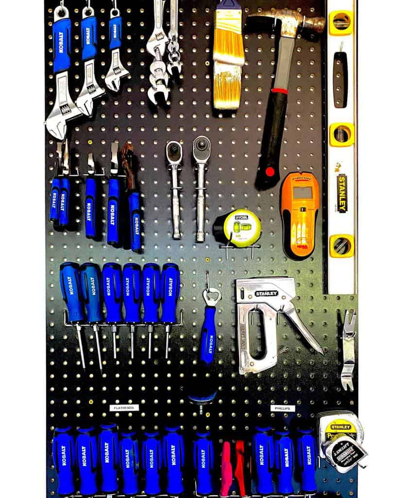 pegboard work bench ideas simplify_space_solutions