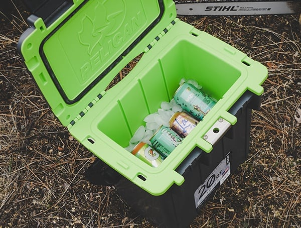 Pelican 20qt Elite Cooler Review Outdoors With Ice And Beverages