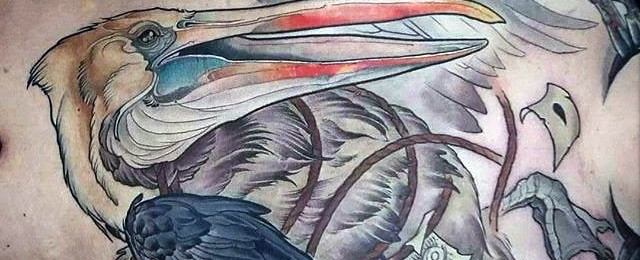 Pelican Tattoos For Men