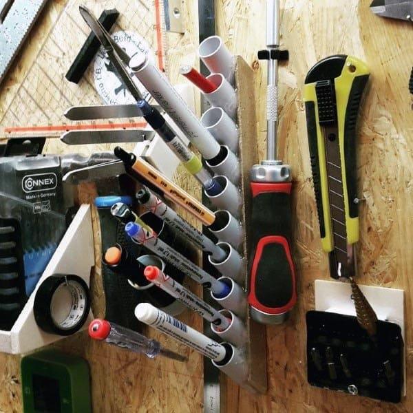Pen And Pencil Pvc Tube Storage Tool Storage Ideas