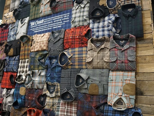 Pendleton Mens Winter Shirts Wall