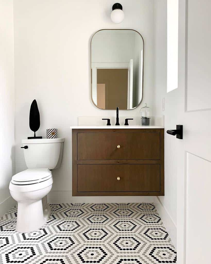 Penny Mosaic Tile Bathroom Floor Tile Ideas