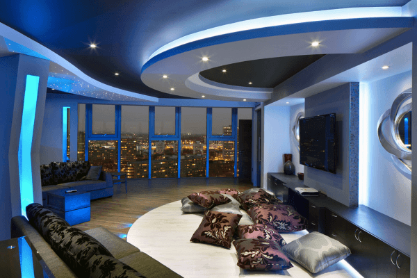 Penthouse Home Theater Design Ideas