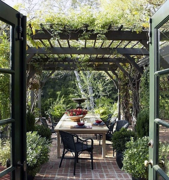 Pergola Brick Patio Design Idea Inspiration