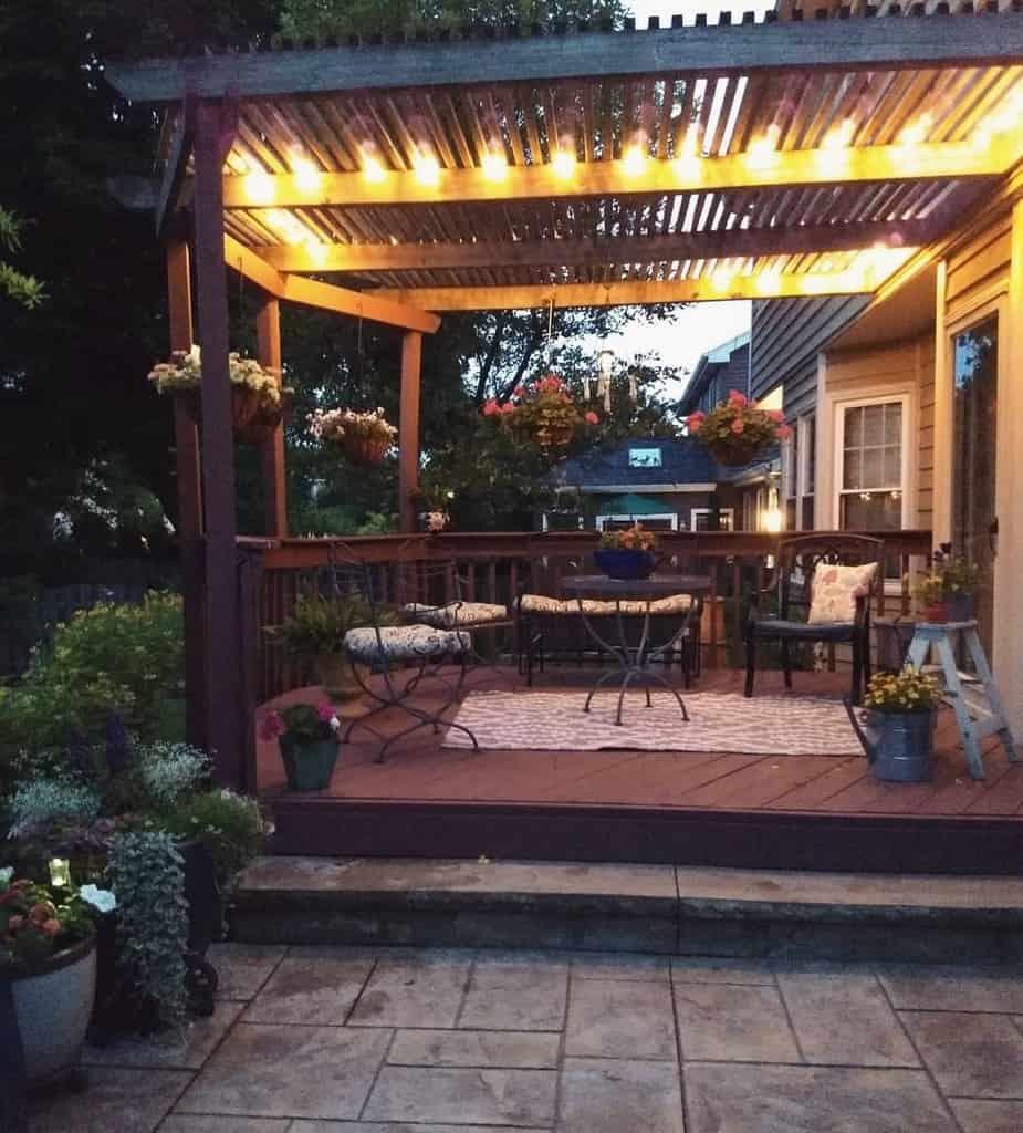 pergola patio lighting ideas seasonally_sarah