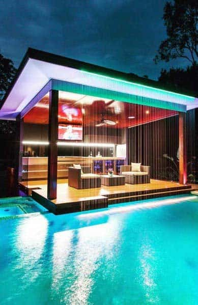 Pergola Roof Pool Lighting Ideas