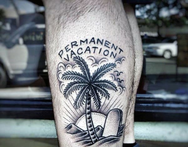 Permanent Vaction Awesome Mens Simple Tattoo Ideas On Leg Calf