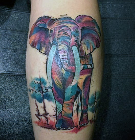 Phenomenal Elephant Tattoo Male Calves