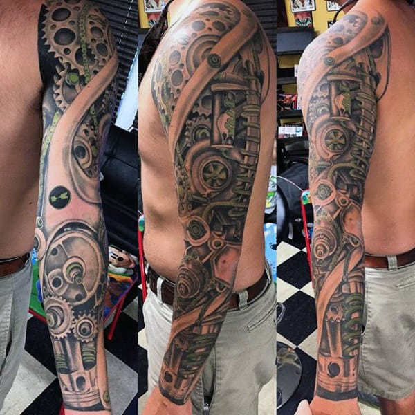 Phenomenal Engine Tattoo Mens Full Sleeves