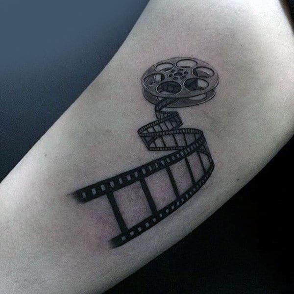 Photo Camera Negatives Tattoo Male Forearms Design Ideas
