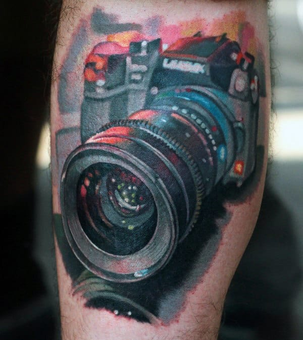 Photography 3d Camera Tattoo Male Forearms