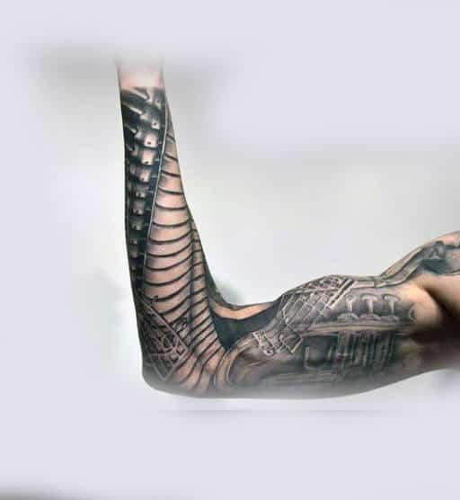 Piano Male Full Sleeve Tattoo Ideas