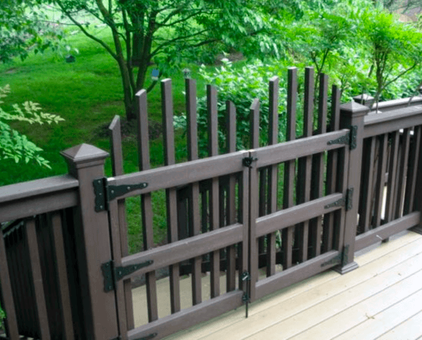 Picket Deck Gate Idea Inspiration
