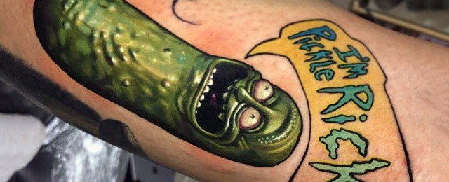 50 Pickle Rick Tattoo Ideas For Men – Rick And Morty Designs