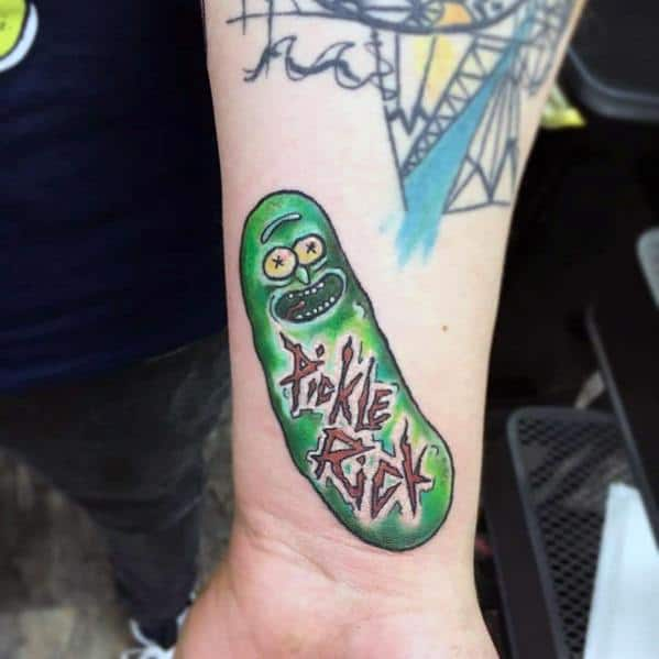 Pickle Rick Tattoos For Gentlemen