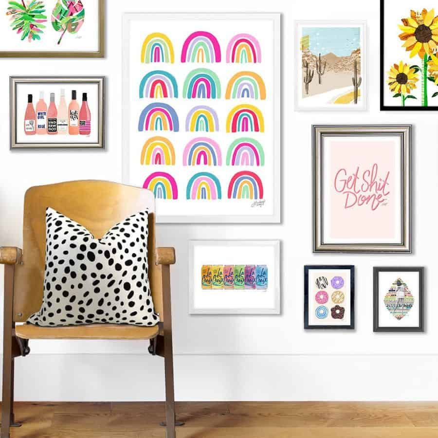 Picture Wall Ideas With Shelf Lindseykayco