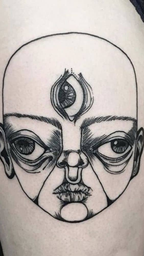 Piercing And Eye Tattoo