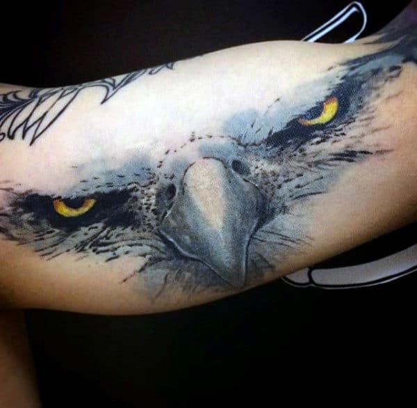 Piercing Eyes Baldeagle Tattoo Mens Forearms