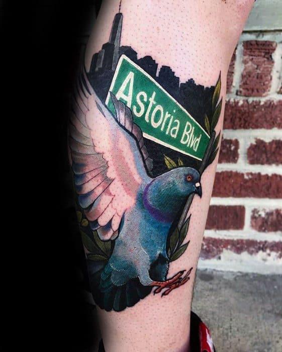 Pigeon Mens Tattoo Ideas