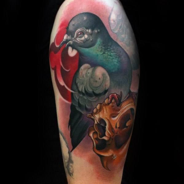 Pigeon Tattoo Ideas For Gentlemen
