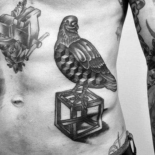 Pigeon Tattoo On Men