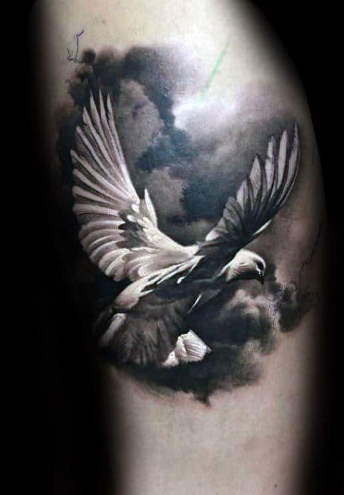 Pigeon Tattoos Men