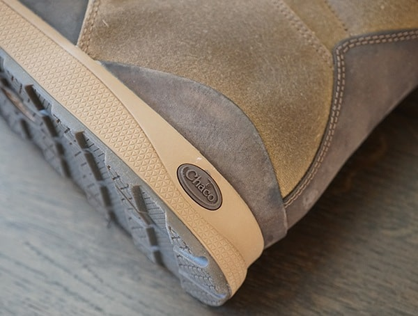 Pigskin Leather And Canvas Mens Chaco Teton Boots