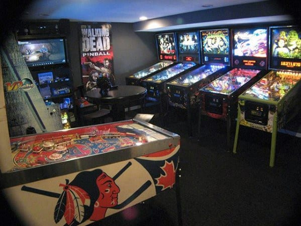 Pinball Arcade Gaming Man Cave Ideas For Men