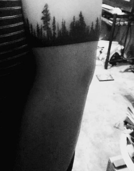 Pine Tree Manly Mens Armband Tattoo