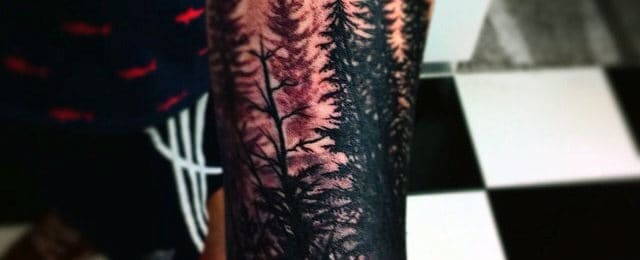 70 Pine Tree Tattoo Ideas For Men – 4,600 Year Old Wood In The Wilderness
