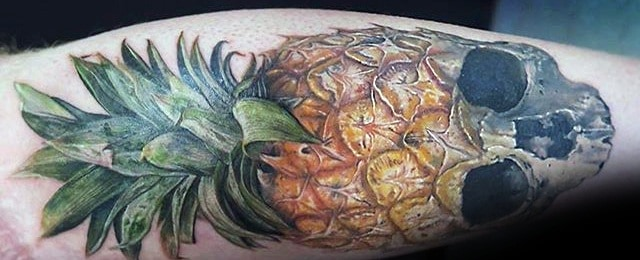60 Pineapple Tattoo Designs For Men – Tropical Fruit Ideas