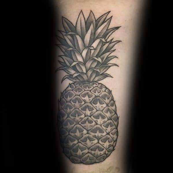 Pineapple Tattoo Ideas For Males On Arm