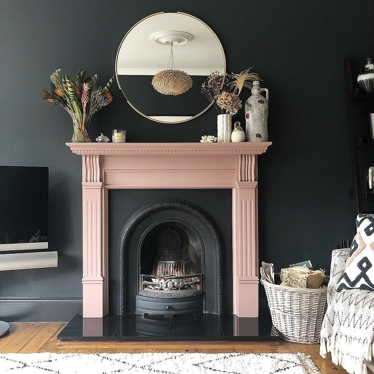 Pink Black Arch Fireplace Surround Amotherdesigner