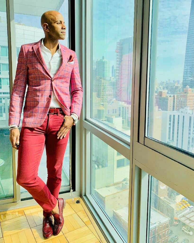 Pink Blazer Mens Wear