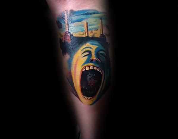 Pink Floyd Guys Tattoo Ideas On Leg