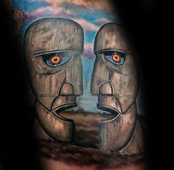 Pink Floyd The Division Bell Tattoo Ideas For Gentlemen Arm Quarter Sleeve