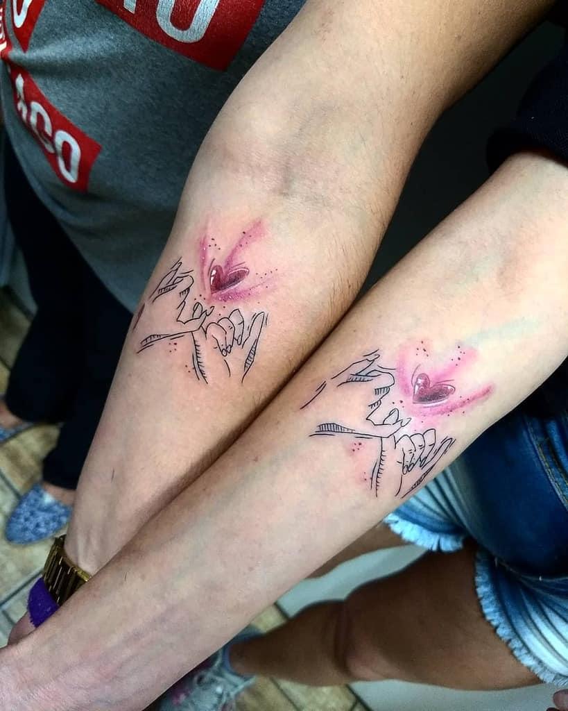 Pinky Promise Heart Friendship Tattoo