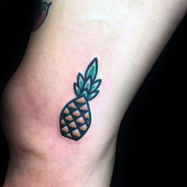 Pinnaple Small Creative Guys Arm Tattoo Designs