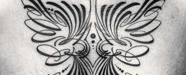 30 Pinstripe Tattoos For Men – Masculine Thin Line Design Ideas