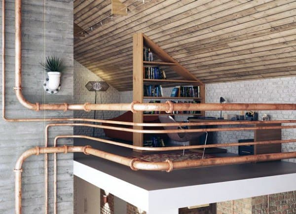 Pipes Industrial Interior Design Office